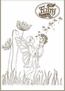 My Fairy Garden colouring sheet