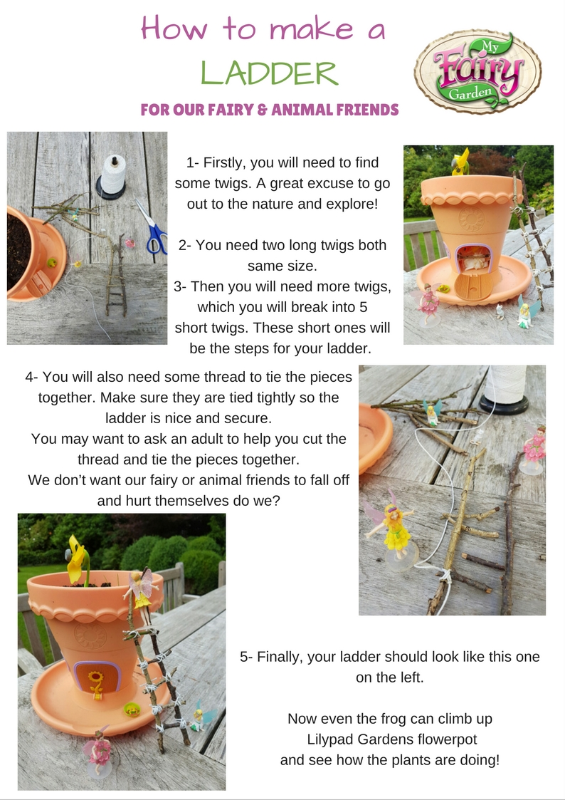 How to make a handy ladder for the fairies and animals